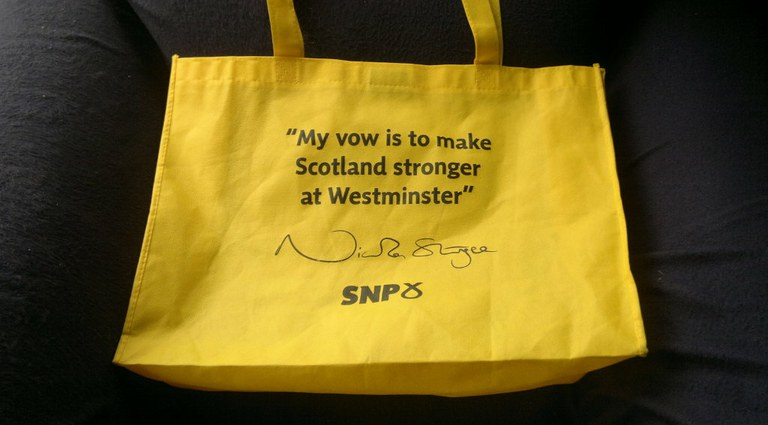 SNP Stronger for Scotland bag