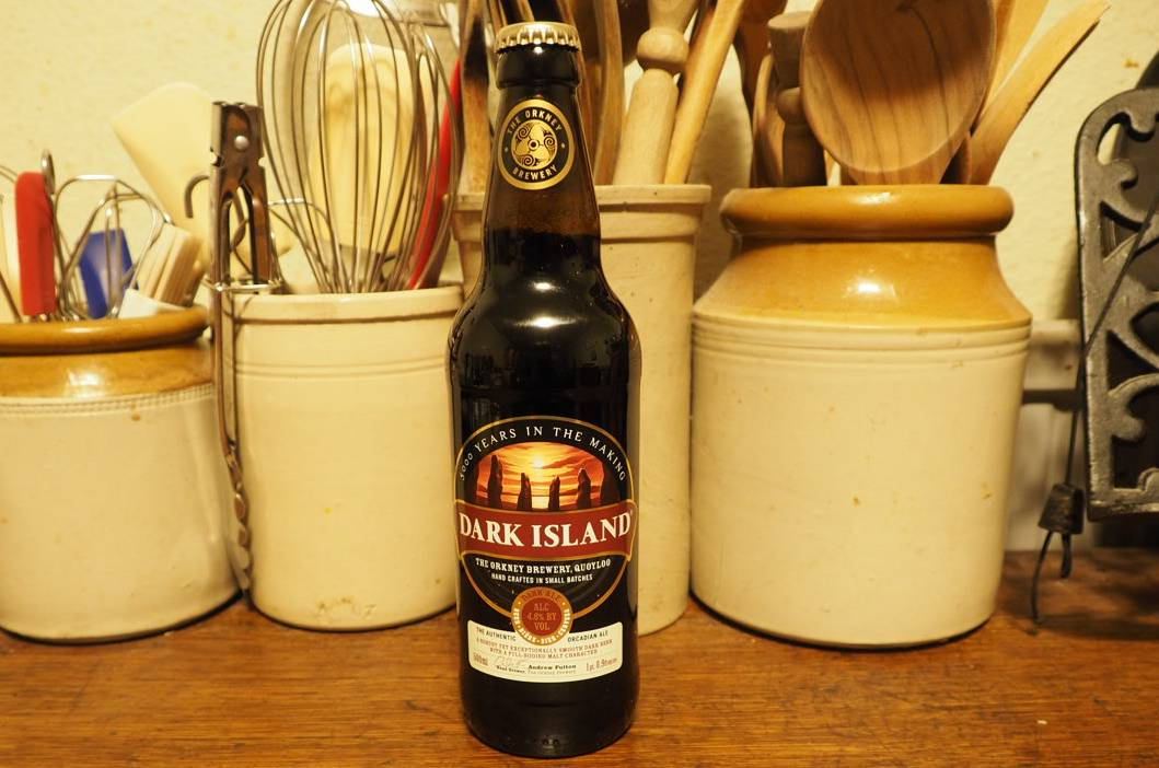 Dark Island beer from the Orkney Brewery