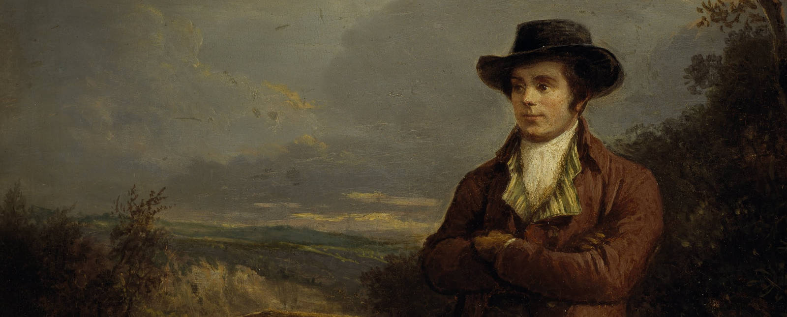 Detail from Alexander Naysmith portrait of Robert Burns