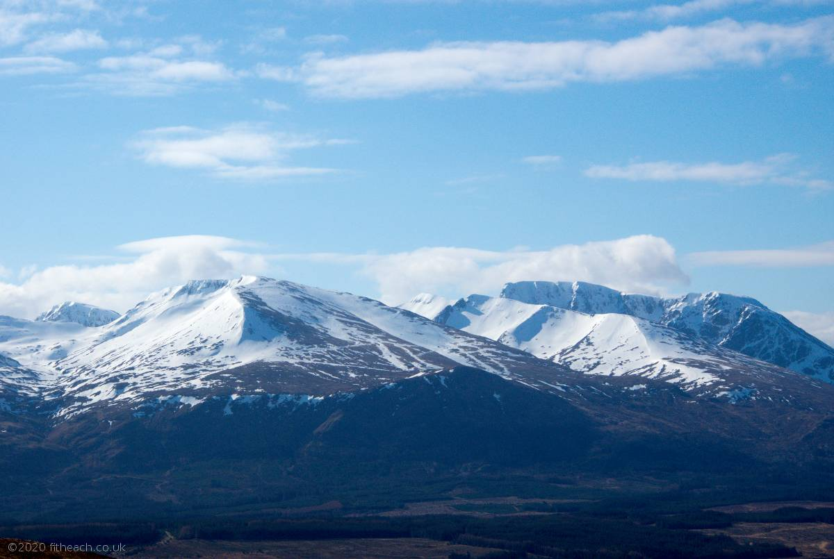 The snow-capped Nevis range