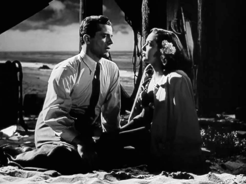 Eric (Dana Andrews) and Stella (Linda Darnell) at the beach
