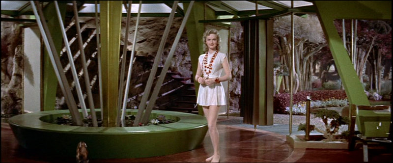 Forbidden Planet - Altaira or Alta (Anne Francis) makes her entrance in the film.
